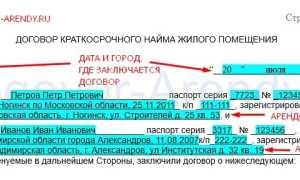 Договор краткосрочного найма (посуточной аренды) квартиры